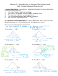 Section 5.1 Introduction to Normal Distributions and THE Standard Normal Distribution