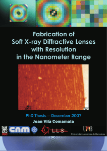 Fabrication of Diffractive Lenses Soft X-ray with Resolution