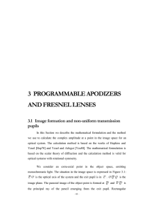 3  PROGRAMMABLE APODIZERS AND FRESNEL LENSES pupils