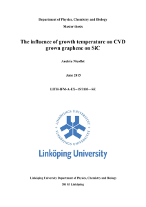 The influence of growth temperature on CVD grown graphene on SiC