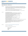 Optical Biosensors. Edition No. 2 Brochure