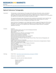 Optical Coherence Tomography Brochure