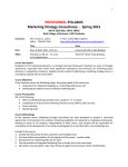 SYLLABUS Marketing Strategy Consultancy  -  Spring 2015 PROVISIONAL