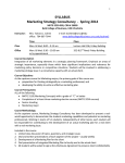 SYLLABUS   Marketing Strategy Consultancy  ‐  Spring 2014