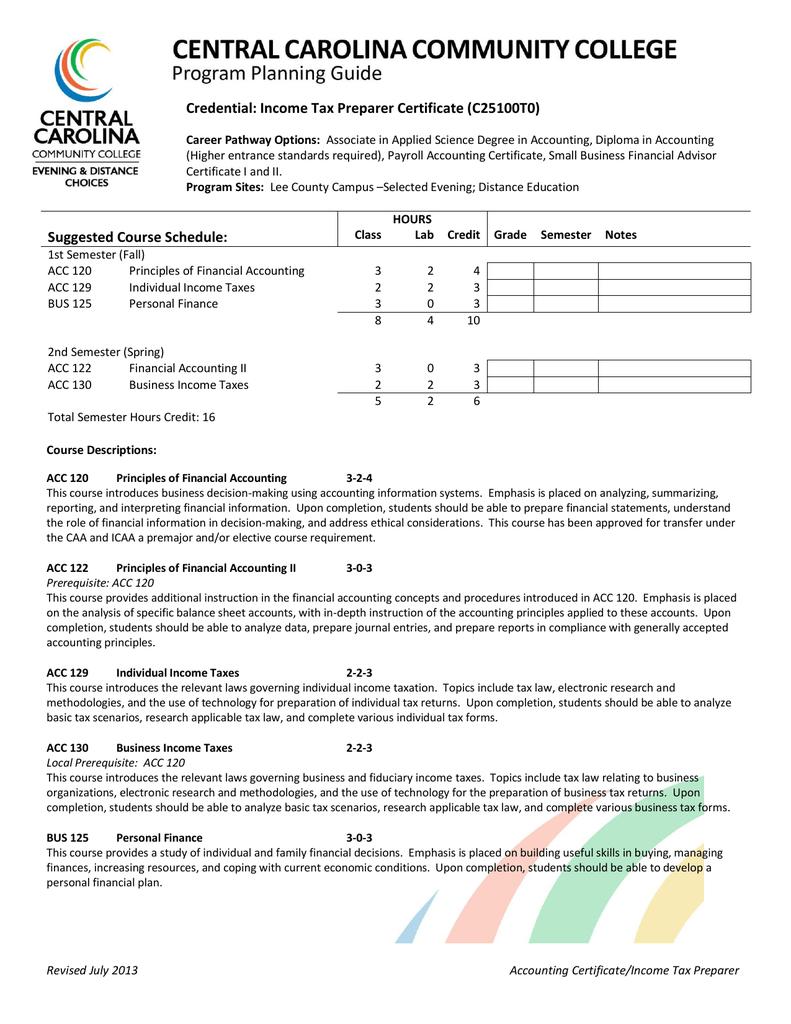 Credential Income Tax Preparer Certificate C25100t0