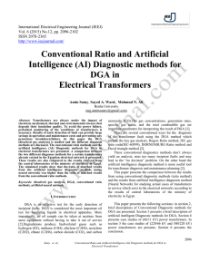 Conventional Ratio and Artificial Intelligence (AI) Diagnostic methods for DGA in Electrical Transformers
