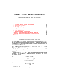 DIFFERENTIAL EQUATIONS ON HYPERPLANE COMPLEMENTS II Contents 1 3