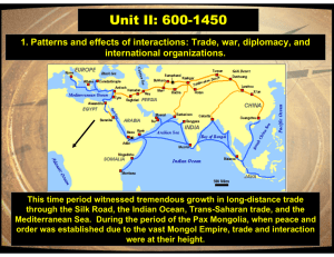 Unit II: 600-1450 international organizations.