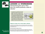 LESSON 3.5 WORKBOOK Homeostasis gone awry: How