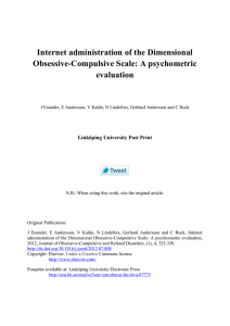 Internet administration of the Dimensional Obsessive-Compulsive Scale: A psychometric evaluation