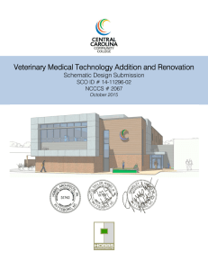 Veterinary Medical Technology Addition and Renovation Schematic Design Submission