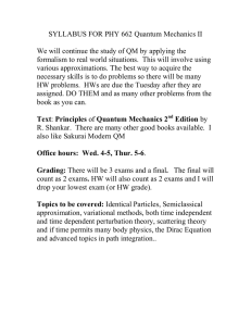 SYLLABUS FOR PHY 662 Quantum Mechanics II