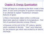 Chapter 8: Energy Quantization