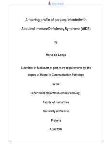 A hearing profile of persons infected with Maria de Lange