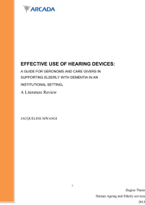 EFFECTIVE USE OF HEARING DEVICES: . A Literature Review