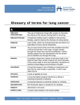 Glossary of terms for lung cancer A