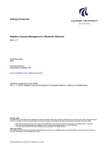 Aalborg Universitet Adaptive Capacity Management in Bluetooth Networks Son, L.T.