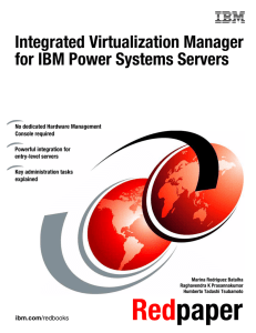 Integrated Virtualization Manager for IBM Power Systems Servers Front cover