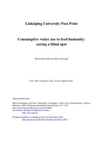 Linköping University Post Print Consumptive water use to feed humanity: