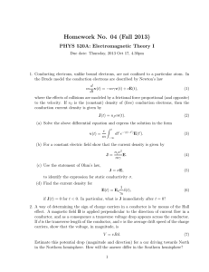 Homework No. 04 (Fall 2013) PHYS 520A: Electromagnetic Theory I