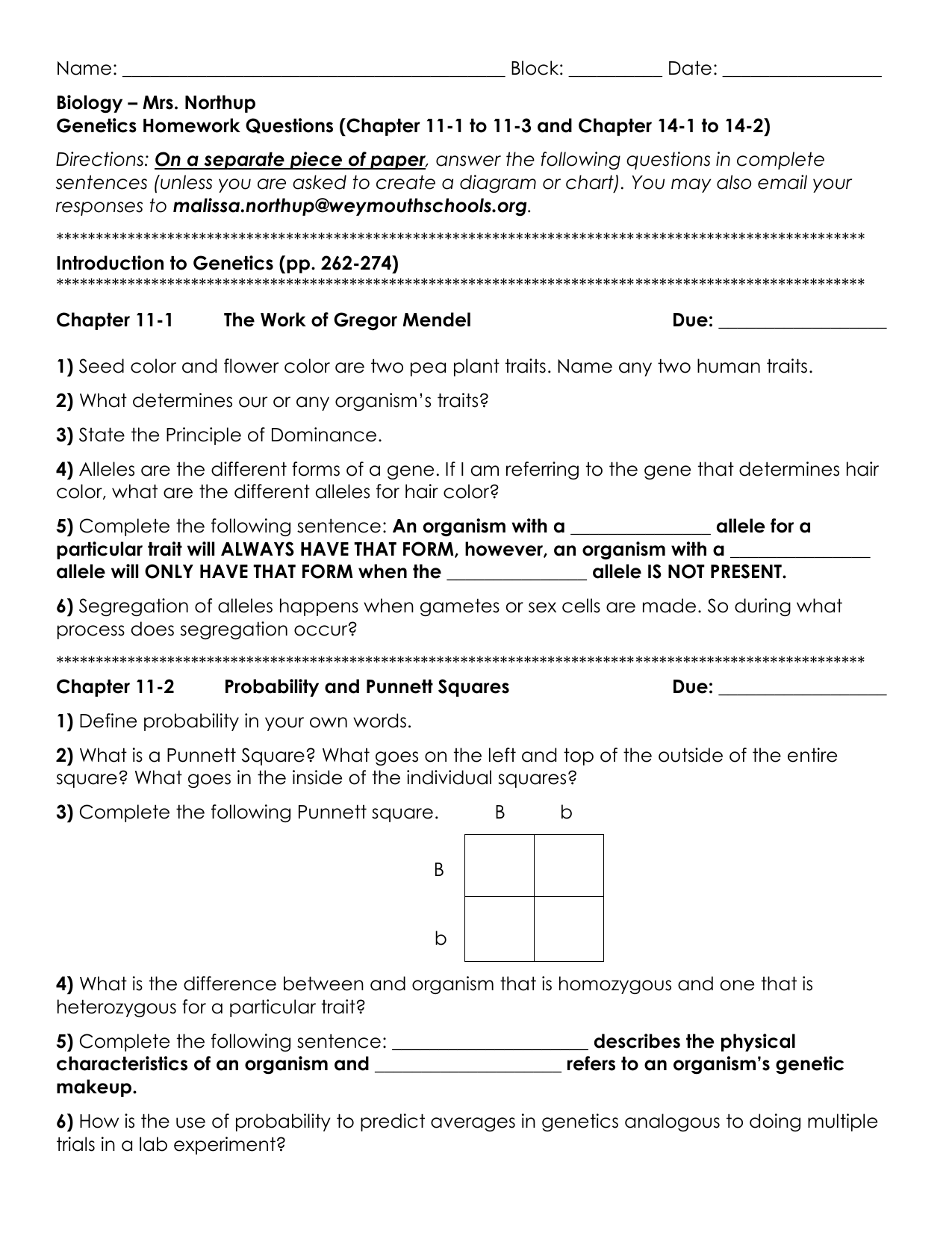Bestseller: Chapter 11 Introduction To Genetics Worksheet ...