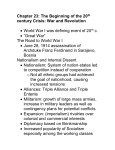 Chapter 24: The Beginning of the 20th century Crisis: War and