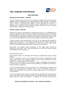1be Judaism and Science