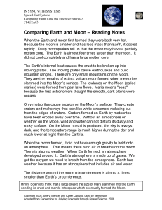 Comparing Earth and Moon – Reading Notes
