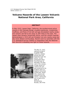 Fact sheet about the volcanic hazards of the Lassen Volcanic