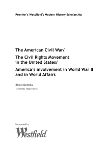 The American Civil War/The Civil Rights Movement in the United