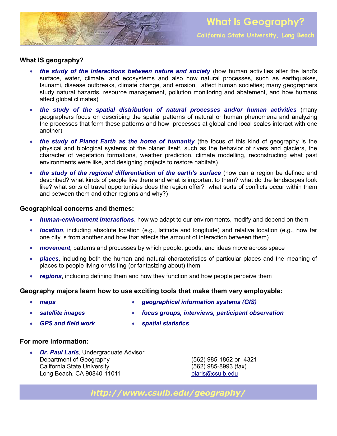 What Is Geography flyer - California State University, Long