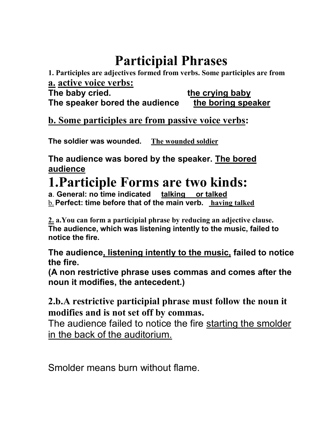 Worksheets Participial Phrase Worksheet participial phrases 1 participles are adjectives formed from verbs