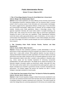 Public Administration Review Volume 73, Issue 3, May/Jun 2013 1