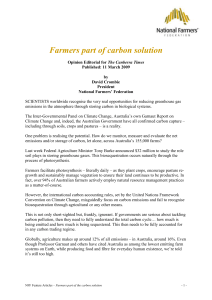 Farmers part of the carbon solution