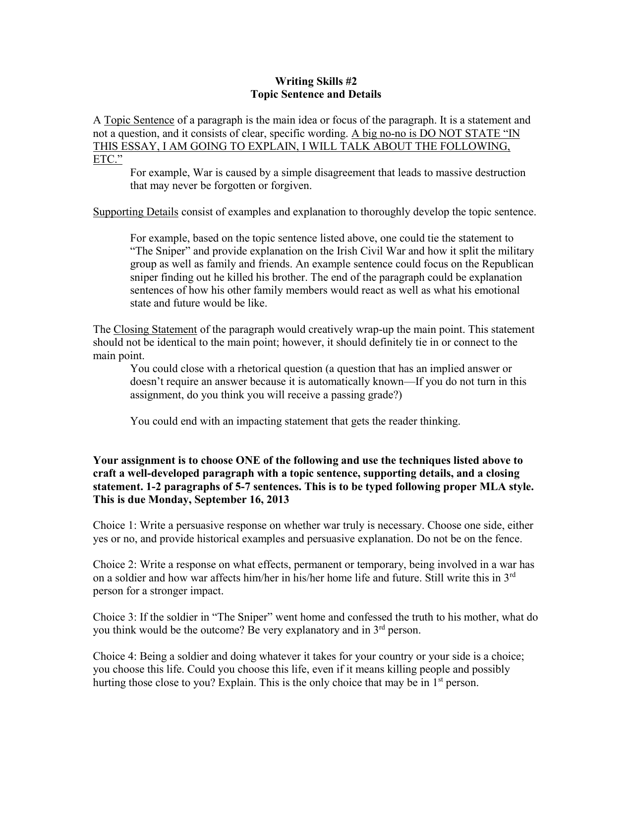 Science Fiction Essay The Sniper Writing Topics Interview Essay Paper also Persuasive Essay Thesis Statement The Sniper Writing Topics Fahrenheit 451 Essay Thesis