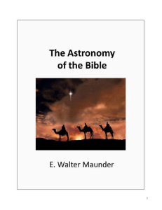 THE ASTRONOMY OF THE BIBLE (Annotated) AN ELEMENTARY