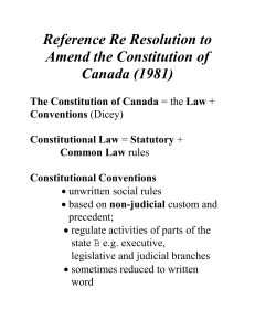 Reference Re Resolution to Amend the Constitution of Canada (1981)