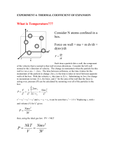 EXPERIMENT 4: THERMAL COEFFICIENT OF EXPANSION