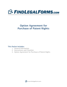 Option Agreement for Purchase of Patent Rights