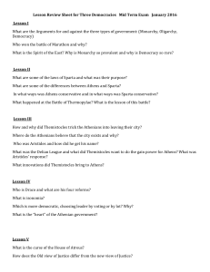 Lesson Review Sheet for Three Democracies Mid Term Exam