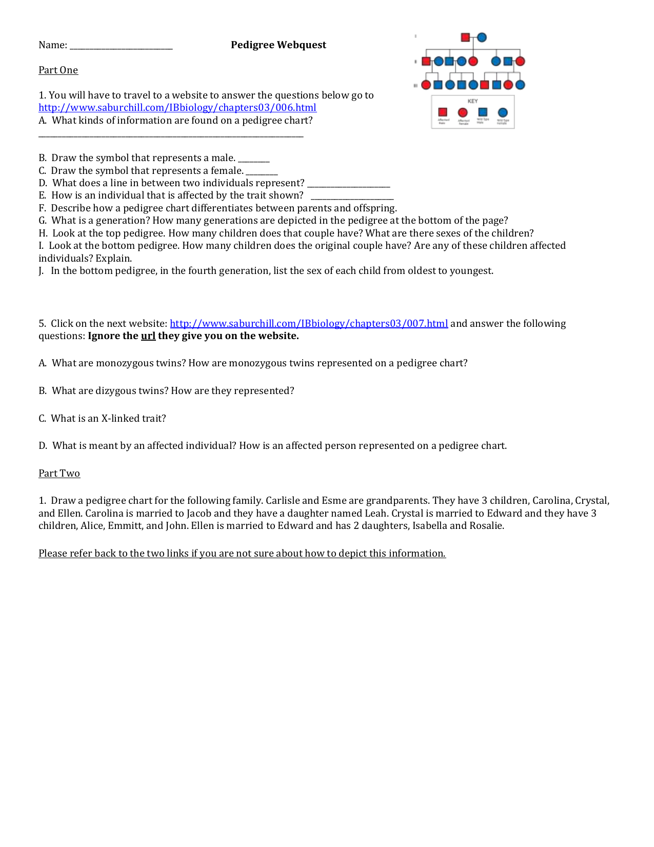 Pedigree Worksheet 3 Hemophilia The Royal Disease | TUTORE ...