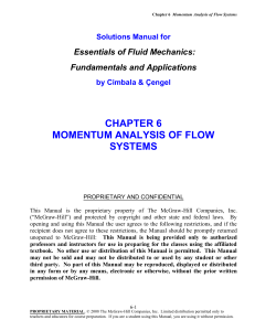 momentum analysis of flow systems