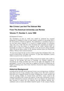 Other Material\War Crimes Law And The Vietnam War