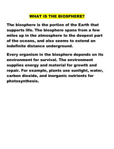 WHAT IS THE BIOSPHERE