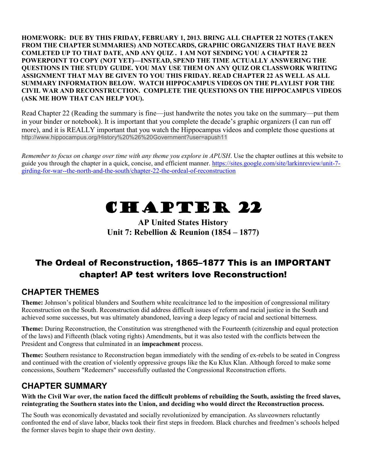 Chapter 22 Study Guide AP US