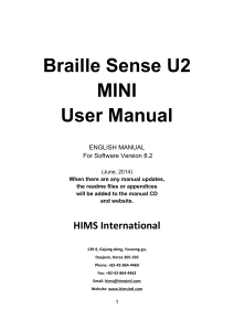 Braille Sense U2 MINI User Manual