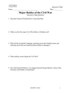 Unit 8 - Maps - Interactive Maps - Major Battles of the Civil War