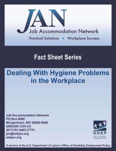 Dealing With Hygiene Problems in the