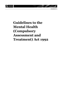 Guidelines to the Mental Health (Compulsory