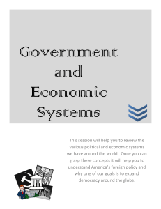 Government and Economic Systems
